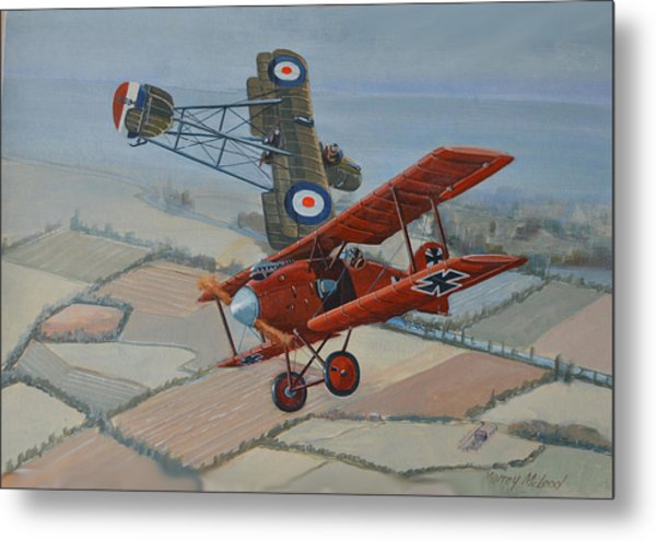 Richtofen And Hawker Combat Metal Print by Murray McLeod
