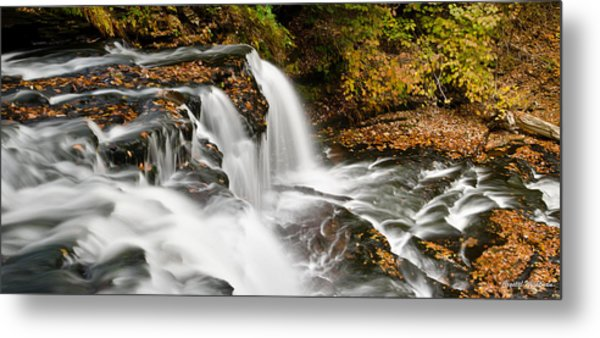 Ricketts Glen - On Top Of The Fall Metal Print