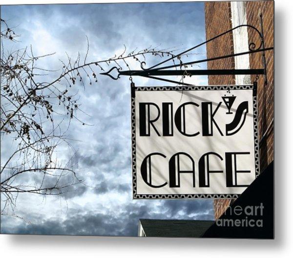 Ricks Cafe Metal Print