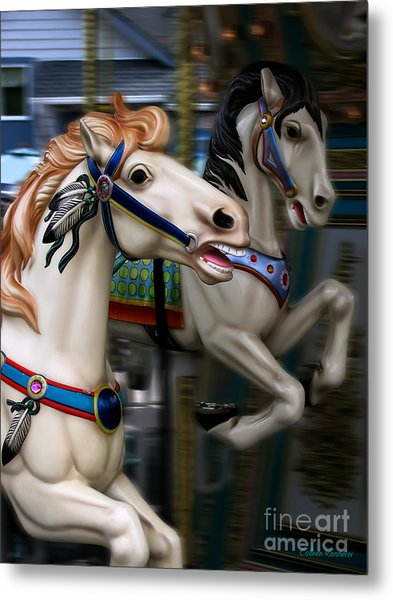 Ride A Painted Pony Metal Print