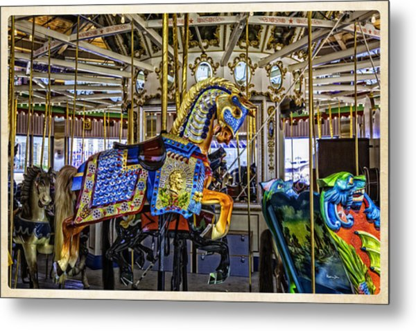 Ride A Painted Pony - Coney Island 2013 - Brooklyn - New York Metal Print