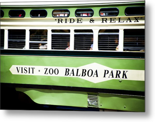 Ride And Relax San Francisco Street Car Metal Print by SFPhotoStore