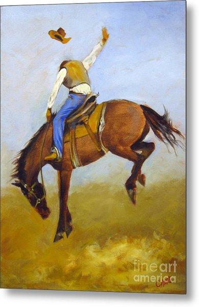 Ride 'em Cowboy Metal Print