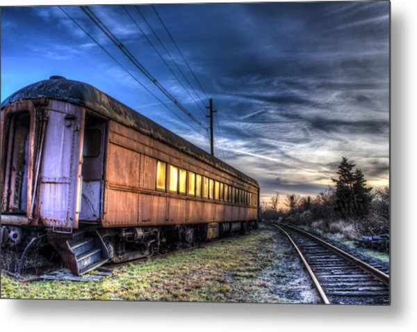 Ride The Rails Metal Print