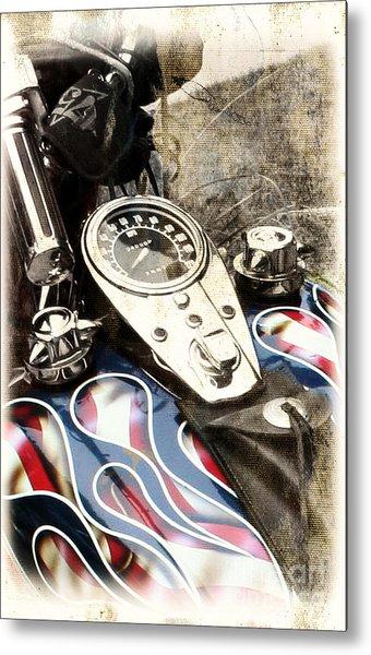 Ride With Pride Metal Print