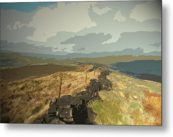 Ridge Between Cats Tor And Pym Chair, A Broken Dry Stone Metal Print