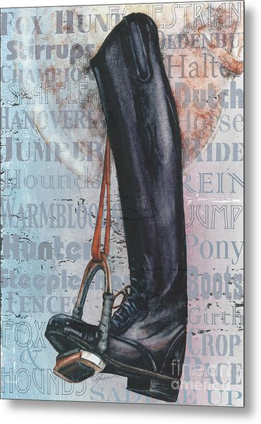 Riding Boot  Metal Print