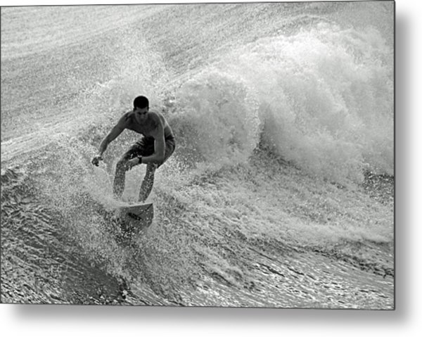 Riding It In Metal Print by Thomas Fouch