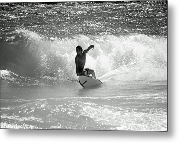 Riding The Waves Metal Print by Thomas Fouch