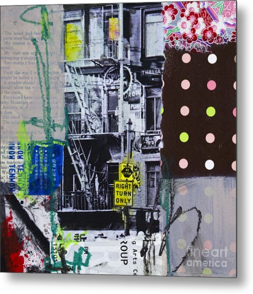 Right Turn Only Metal Print by Elena Nosyreva