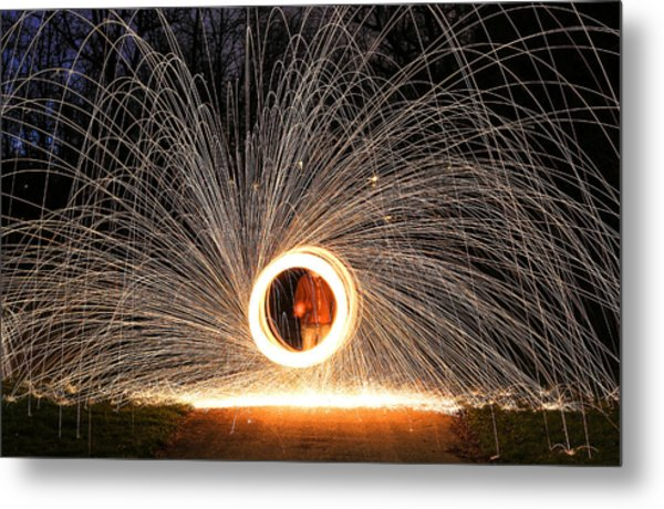 Ring Of Fire Metal Print by Anna-Lee Cappaert