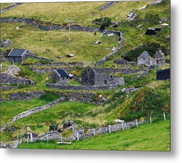 Ring Of Kerry Irish Stone Metal Print
