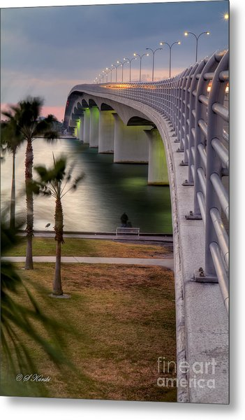Ringling Causeway Bridge Overlook Metal Print