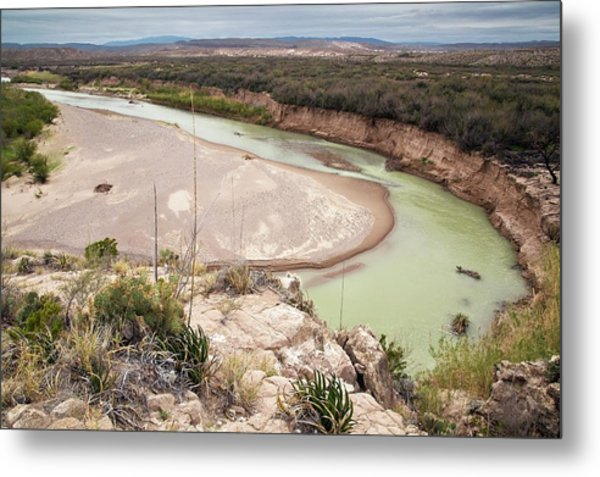 Rio Grande In Boquillas Canyon Metal Print by Bob Gibbons/science Photo Library