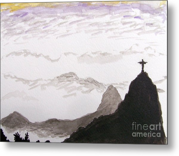 Rio Sunrise Metal Print by Kevin Croitz