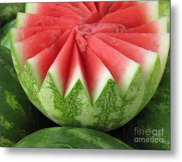 Ripe Watermelon Metal Print