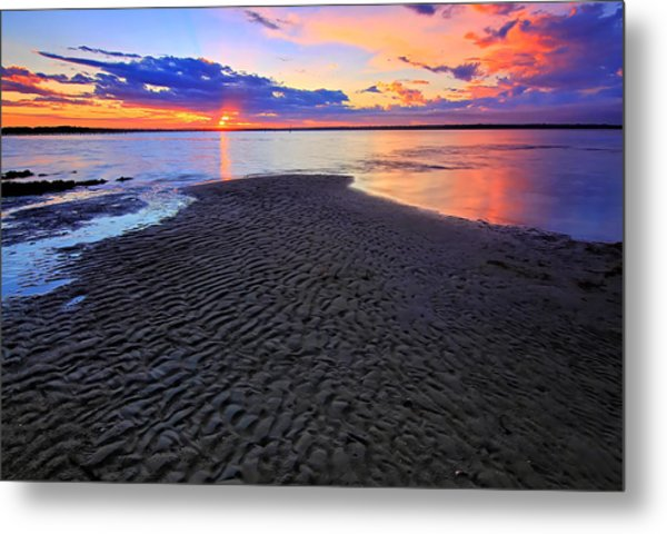 Rippled Sunset Metal Print