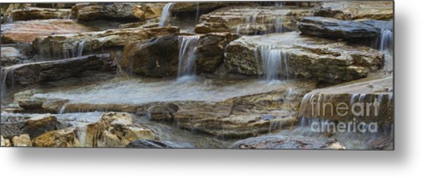 Ripples Of Water Panoramic Metal Print