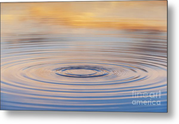 Ripples On A Still Pond Metal Print