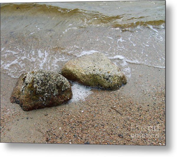 Rippling Seaside Tide Metal Print