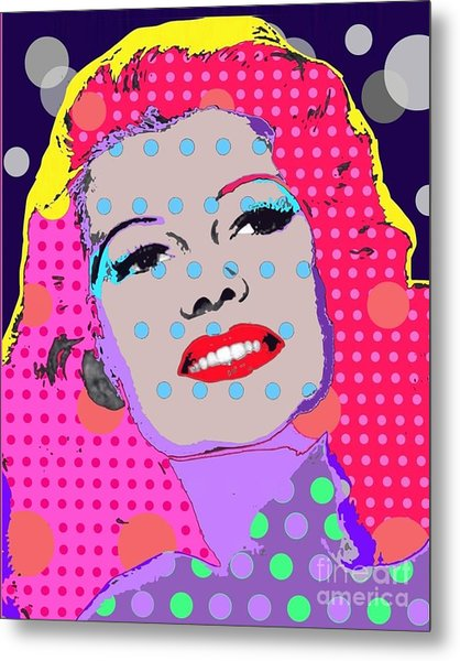 Rita Hayworth Metal Print by Ricky Sencion