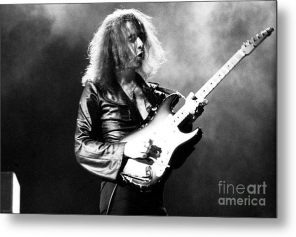 Riitchie Blackmore 1973 Deep Purple Metal Print by Chris Walter