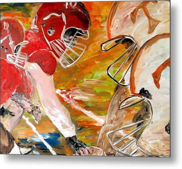 Rivals Face To Face  Metal Print