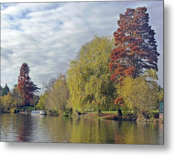 River Avon In Autumn Metal Print