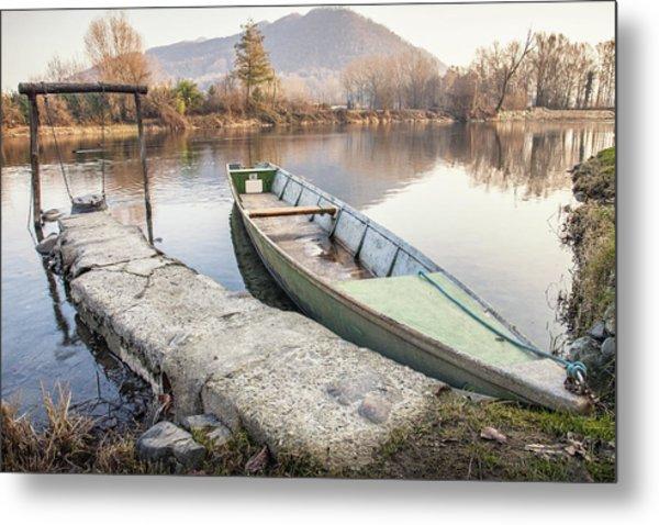 River Boat Metal Print