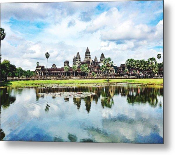 River By Angkor Wat Against Sky Metal Print by Silvana Serra / Eyeem
