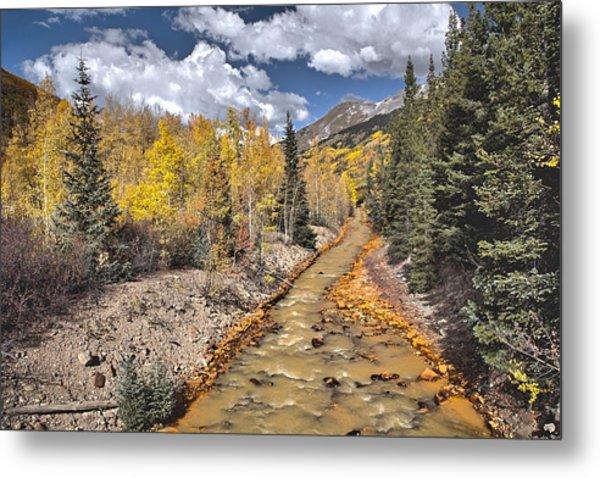 River By Iron Town Colorado Metal Print