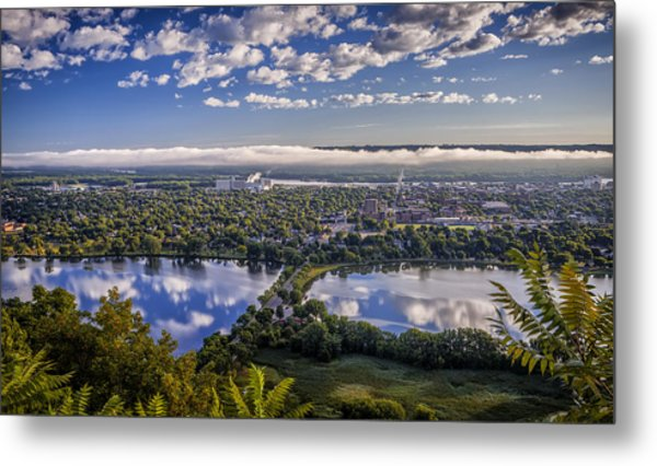 River Fog At Winona Metal Print