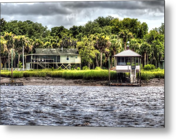 River House On Wimbee Creek Metal Print