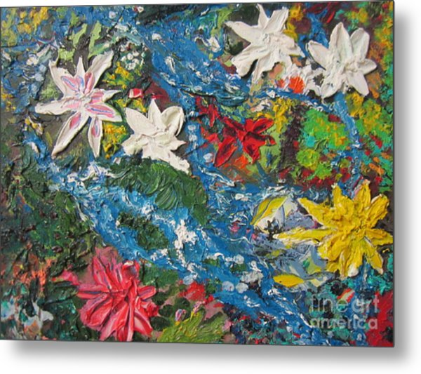 River Of Flowers  Metal Print by Max Lines