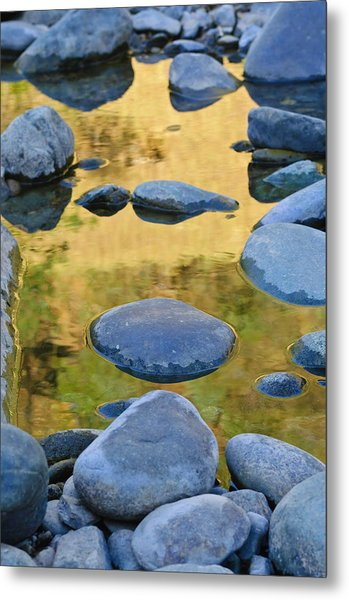 Metal Print featuring the photograph River Of Gold by Sherri Meyer