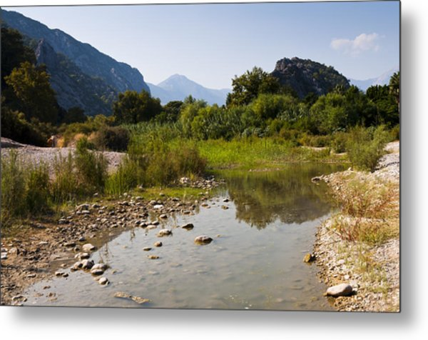 River On The Beach Metal Print