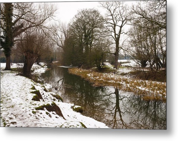River Ouse In Snow Metal Print