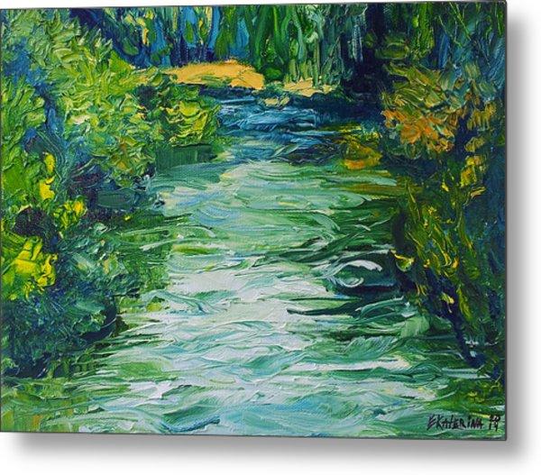 River Painting Metal Print
