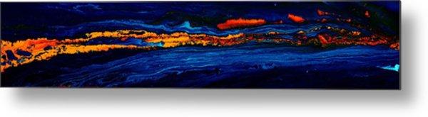 River Path Abstract Art Horizontal Fluid Painting By Kredart Metal Print