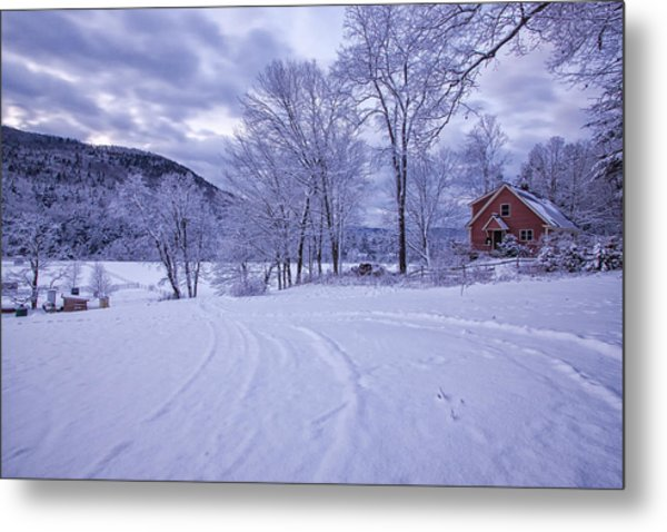 River Road Winter Metal Print