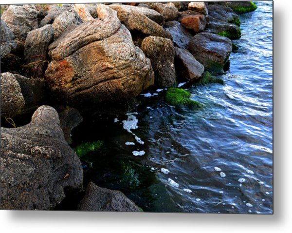 River Rocks Metal Print by Victoria Clark