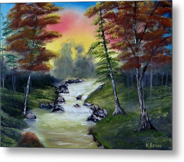 Metal Print featuring the painting River Run by Kevin  Brown