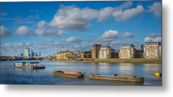 River Thames At Greenwich Metal Print