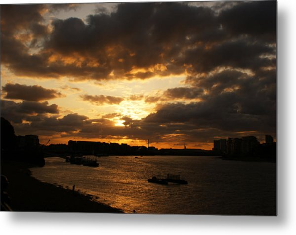 River Thames From Greenwich Metal Print
