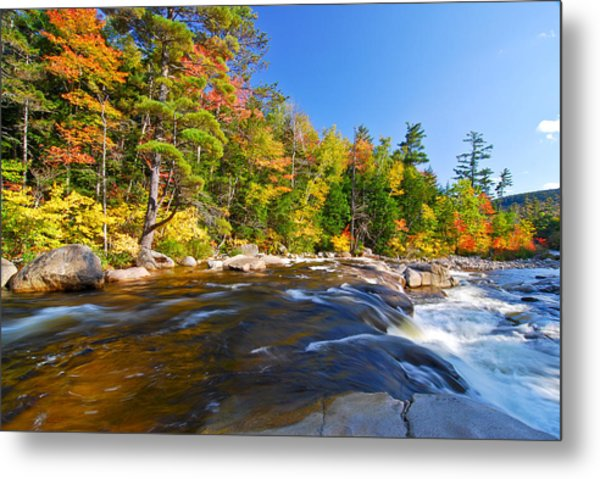 Metal Print featuring the photograph River View N.h. by Michael Hubley