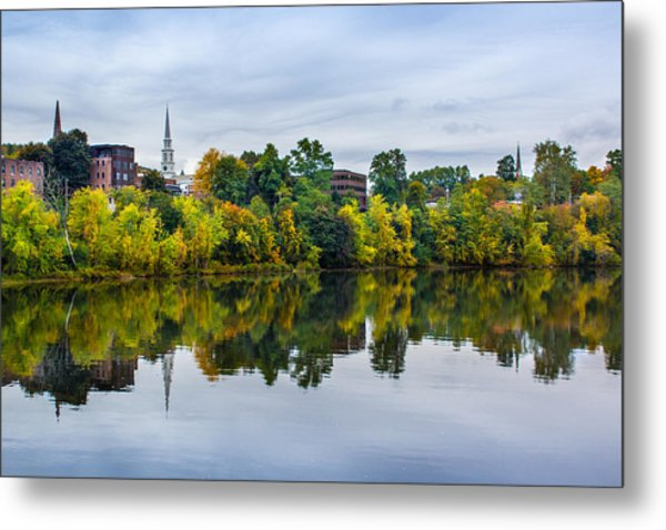River View Of Brattleboro Vermont Metal Print