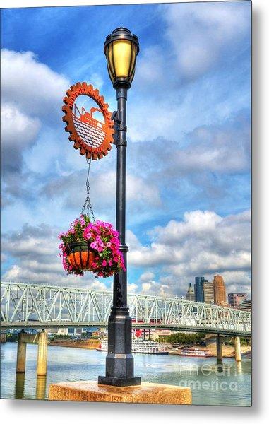 Riverboat Lamp Metal Print