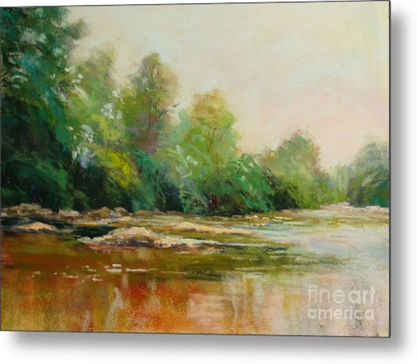 River's Edge Metal Print by Virginia Dauth