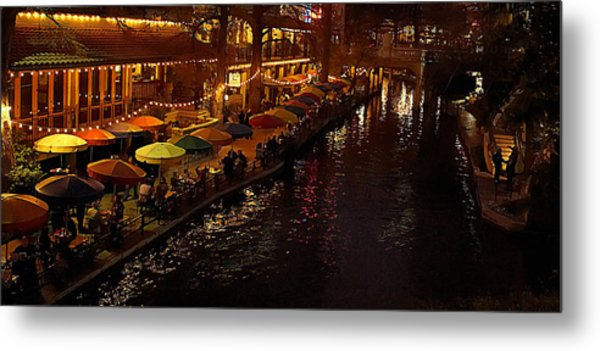 Riverwalk Night Metal Print