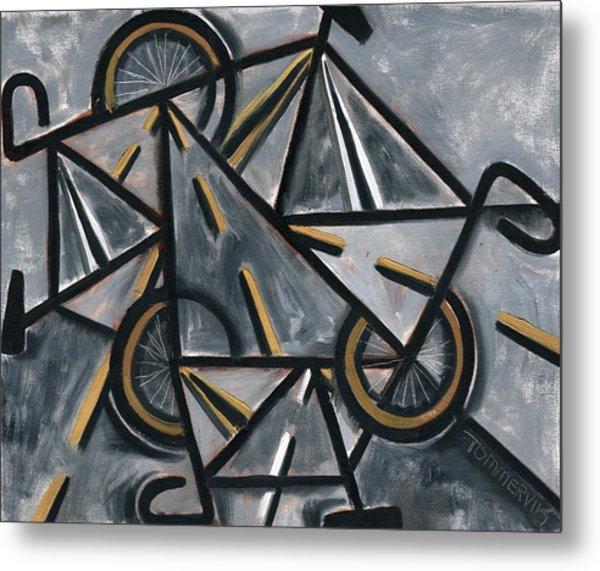 Tommervik Abstract Road Bikes Art Print Metal Print